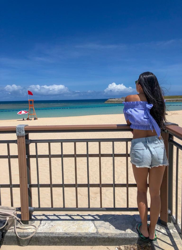 tropical beach okinawa