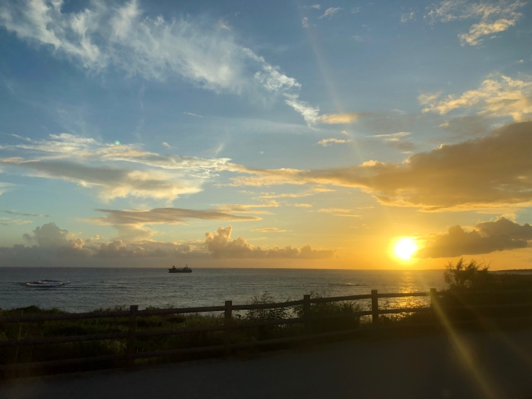 sunset Naha
