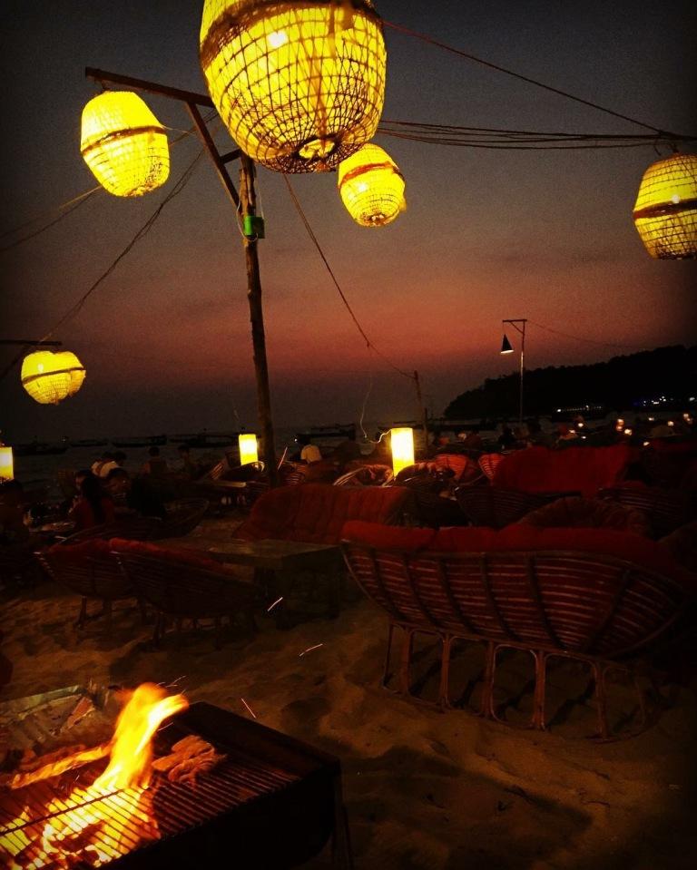 sihanoukville cambodia night beach view