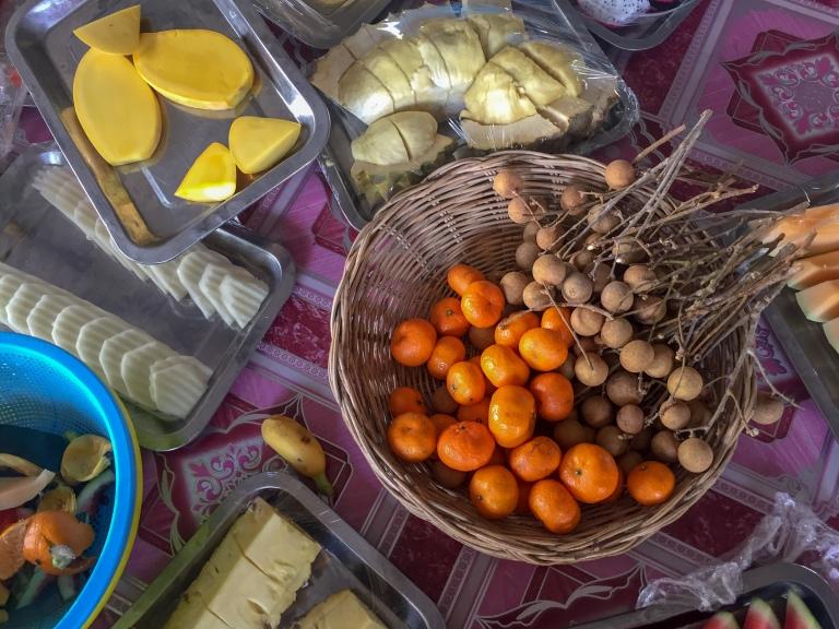 Nong Nooch Tropical Botanical Garden fruit buffet