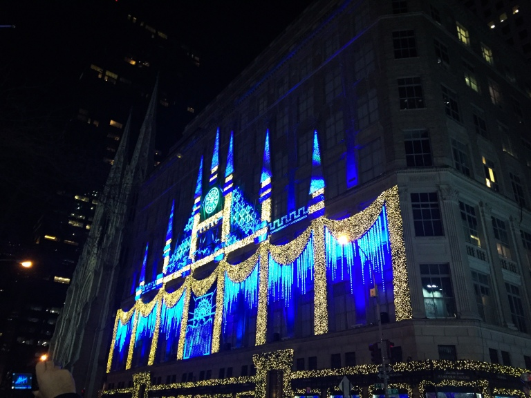 Fifth avenue Christmas Light Show