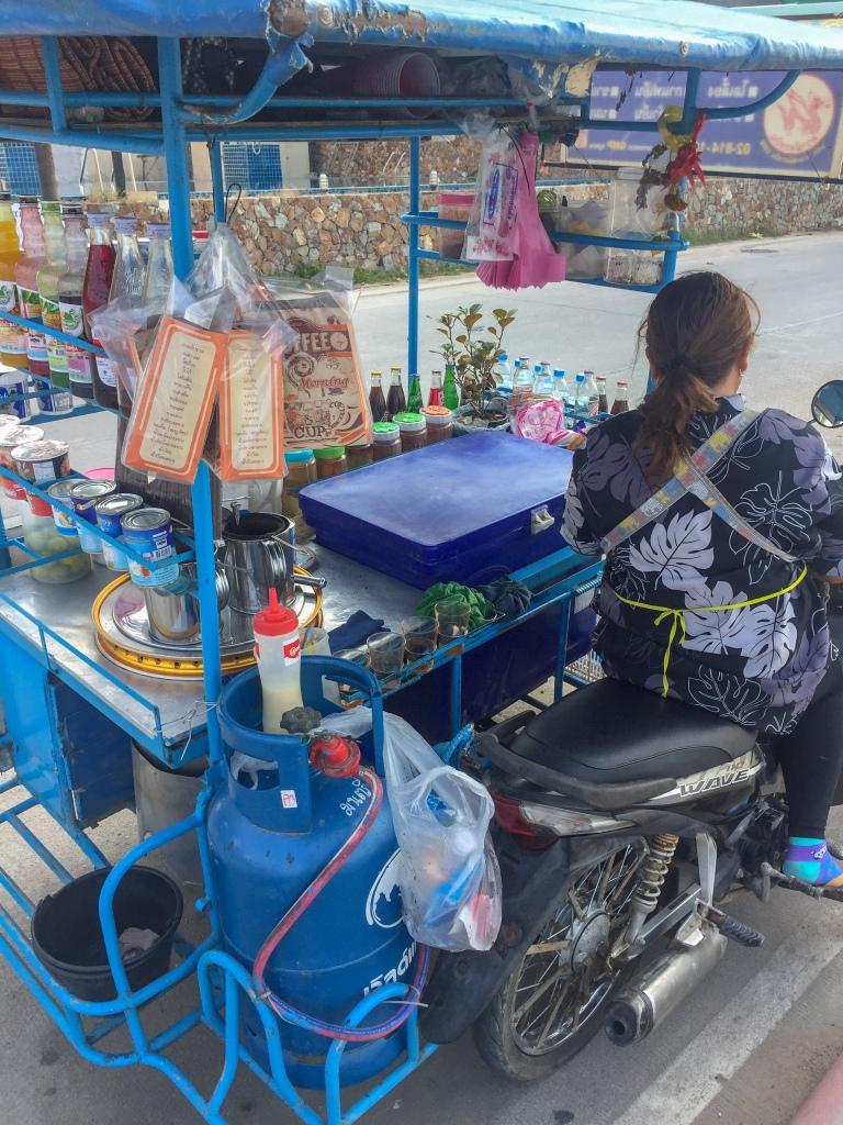 Thai street food stand