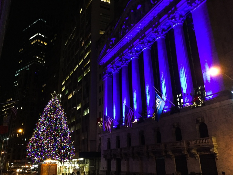 Financial district Christmas Lights