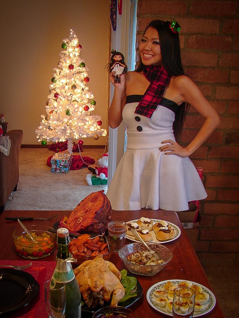 DIY Christmas Snowman Outfit